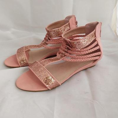 Nazouvací sandály   vel. 39 pink