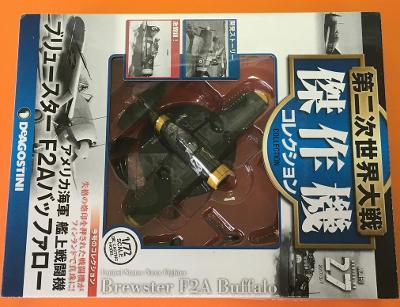 Časopis letadla - Brewster F2A - éra WW2 - 1/72 DeAgostini (LET1-9)