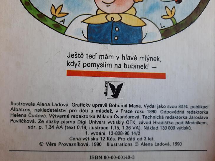 Budulínek leporelo vyd.1 roku 1990 - Knihy