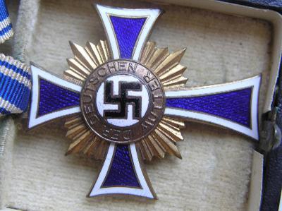 Kříž matek zlato, Mutterkreuz gold v etui Stubbe