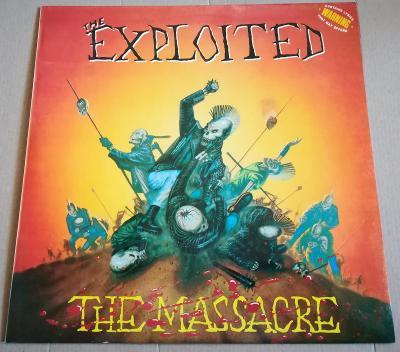 LP THE EXPLOITED-THE MASSACRE /EX+, GLOBUS 1990