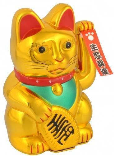 Čínská kočka MANEKI NEKO symbol štěstí ve Feng Shui 0514 zlatá