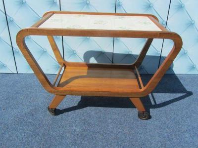 Art-deco zajímavý servírovací stolek-Holešov?