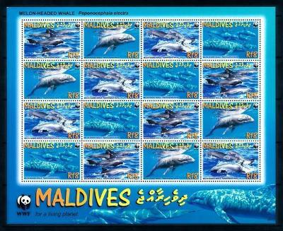 Maledivy 2009 Elektra tmavá, WWF Mi# 4768-71 Bogen Kat 21€ 2138