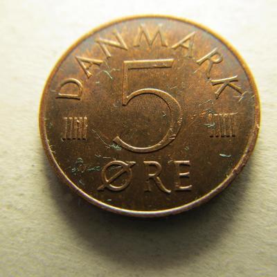 Dánsko - 5 Ore 1976
