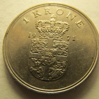 Dánsko - 1 Krone 1971