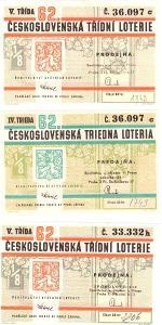 Třídní loterie   62  různé serie