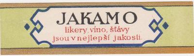Likérka OSTRAMO-Ostrava-etiketa-30-40 léta-od korunky!