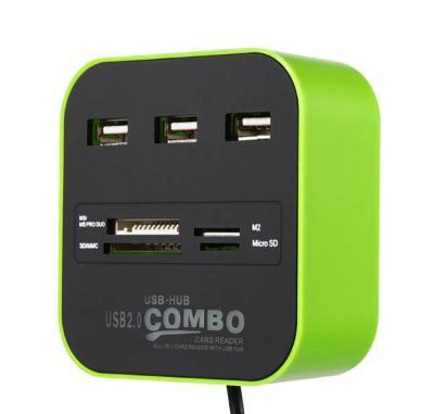 USB HUB Zelený