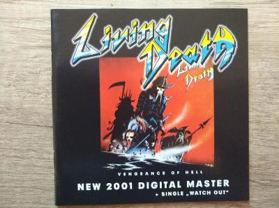 CD-LIVING DEATH-Vengeace Of Hell+singl Watch Out/leg.thrash,speed,DE,