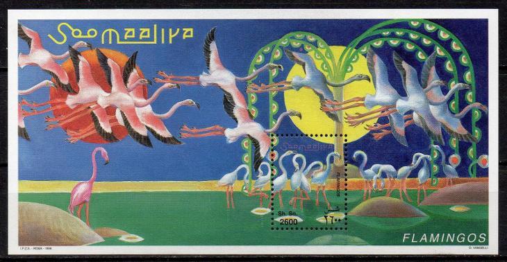 Somálsko-Plameňáci 1998**  Michel Bl.56 / 7 € - Filatelie