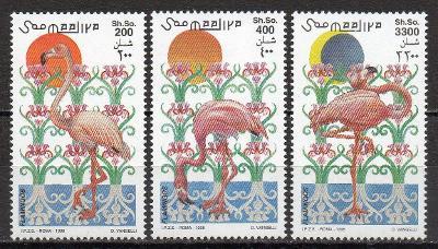 Somálsko-Plameňáci 1998**  Mi.726-728 / 12 €