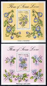 Sierra Leone-Flóra 1986**  Mi.Bl.-48-49 / 10 €