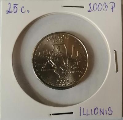 25 cent 2003D, Illionis, quarters Dollar 2003D - Illionis
