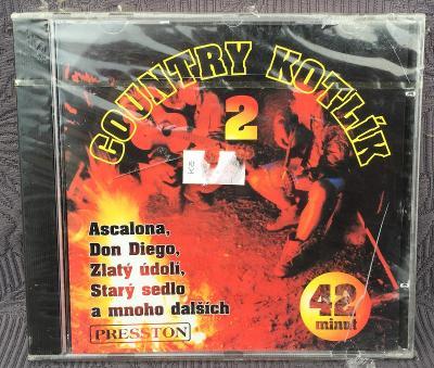 CD - Country kotlík 2.  ,  CD NOVÉ, VE FOLII