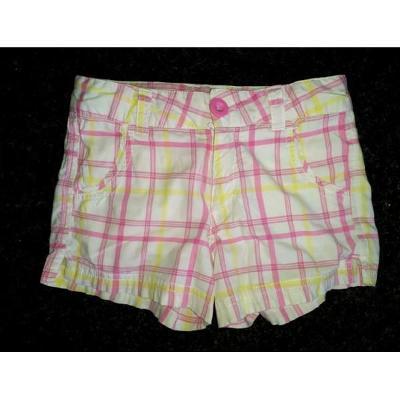 Plátěné Dívčí letní šortky, kraťasy vel. 128