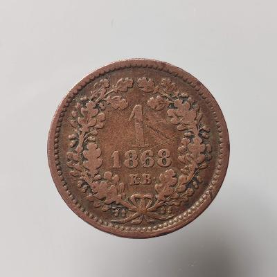 1 kreuzer 1868/KB. František Josef I.