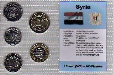 SÝRIE: kompletní sada 5 mincí 1-25 pounds 1996-2004  UNC v blistru