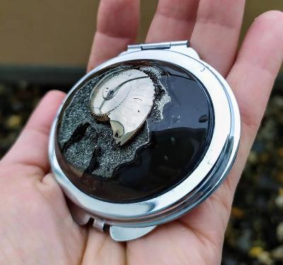 Zrcadlo se Simbircito-amonitovou geodou, ID A9, 70x63 mm