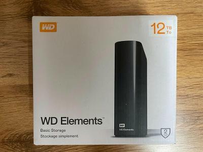 WD Elements Desktop 12TB - externí disk USB 3.0