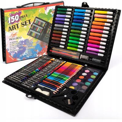 Výtvarná sada na malování 150 kusu  0459 černá