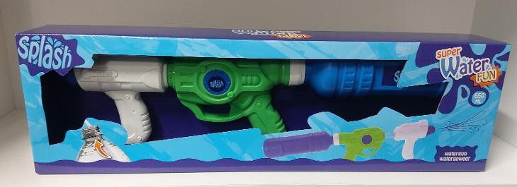 Super velká vodní pistole Water Fun. Délka 53 cm. Nová. 650ml. - Hračky