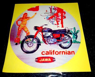 JAWA Californian 350 export AMERICAN JAWA, bílá samolepka pr.7-(1x)