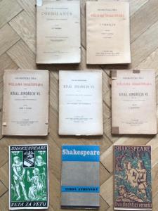6x Shakespeare – divadelní hry, Coriolanus, Cymbelín, Jindřich VI. atd