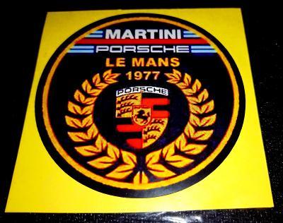 LE MANS 1977 MARTINI Porsche, bílá samolepka pr.7-(1x)