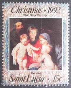 Svatá Lucie 1992 Vánoce, umění, Rubens Mi# 1008 2081