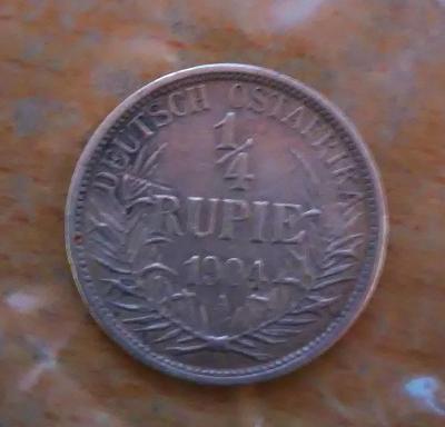 1/4 Rupie Německá Východní Afrika, Vilém II., 1904