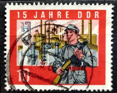 DDR: MiNr.1066A Factory Militia Fighter 10pf 1964