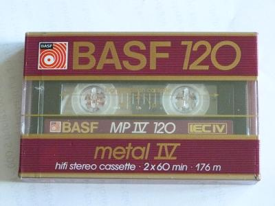 kazeta BASF MP IV 120, typ IV, 1985-87
