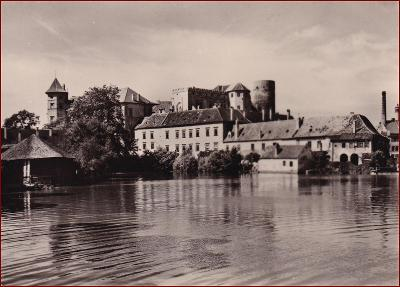 Jindřichův Hradec * zámek, podzámčí, rybník Vajgar, partie * V621