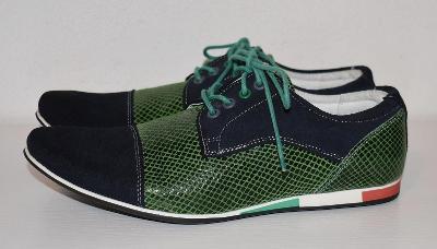 Pánské luxusní kožené boty, DERBY style,vel. 41