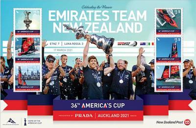 Nový Zéland 2021 Známky aršík ** sport Plachtění loď