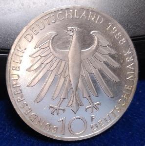 50A232 Německo 10 marek, 1988  100. výročí úmrtí Carla Zeisse, PROOF !