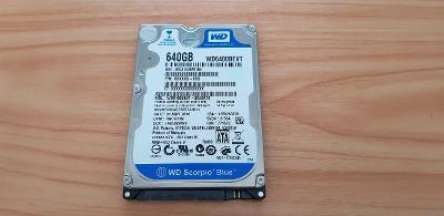 Pevný disk Western Digital 640GB SATA (WD6400BEVT)