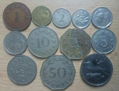 Malta 12 mincí z oběhu, oxidace 25 centu