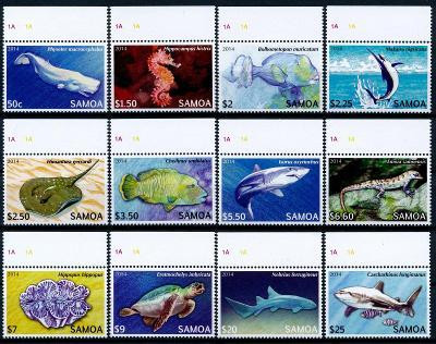 Samoa 2014 ** /Mi. 1144-55 , komplet , ryby  , /L22/