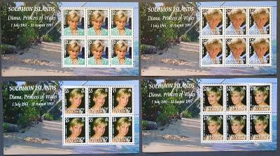Solomon Island 2007 , Princezna Diana, 4xTL