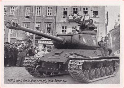 Československo (osvobození) * tank, vojáci, armáda, propagační (válka)