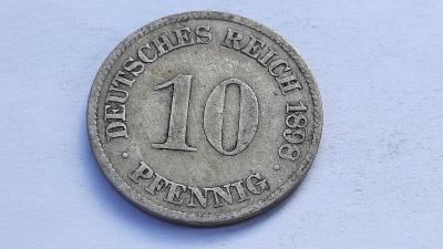 10 Pfennig 1898 J  VZÁCNÝ