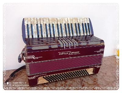 *** Stará klávesová tahací harmonika / akordeon SIBYLLA BRAND ***