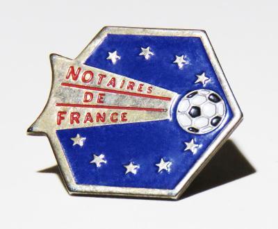 Sběratelský odznak, náušnice, knoflík - Notaires de France