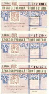 Třídní loterie   66  různé serie