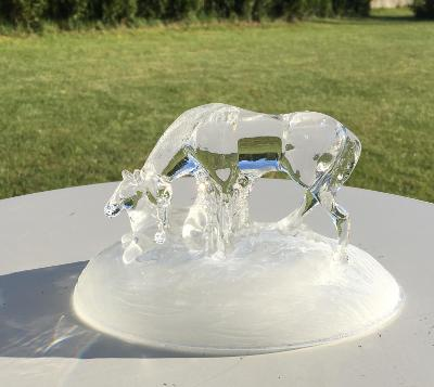 Nádherná soška za skla