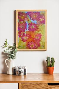 OBRAZ - KYTICE RŮŽÍ - ORIGINÁL - PLÁTNO 30 x 40 cm