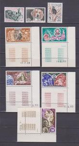 MONACO MONAKO konvolut 1204/6, 941/5 - vinětky - !!!**