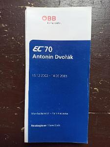 Jízdní řád - vlakový průvodce ÖBB - EC 70 ANTONÍN DVOŘÁK